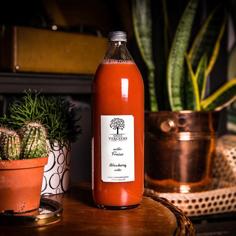 Litre de nectar de fraise Emile Vergeois